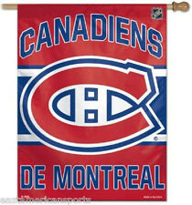 Canadiens De Montreal NHL 27 x 37 Vertical Hanging Wall Flag Fan Banner Bar Room