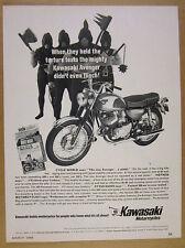 1968 Kawasaki 350 Avenger motorcycle photo vintage print Ad