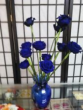 Preserved Blue Roses 12 Dozen (144 Roses) Wholesale High Quality Blue Rose