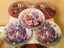 100TH ANNIVERSARY OF THE TEDDY BEAR- Limited Edition Plate Set of 5