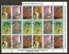 St Sao Tome e Principe - #31 - 1978 - 2a Filatelia Painting Sheet - Cpl - Used