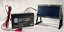 Mighty Max 6 VOLT 12 AH SLA BATTERY KIT WITH SOLAR PANEL CHARGER