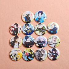 New Touken Ranbu Online Characters Badge Pin back 14 in 1 Set Anime Collection