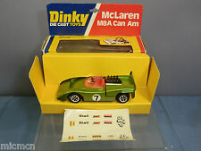"DINKY TOYS MODEL  No.223 McLAUREN M8A CAN AM "" Racing No 7"" GREEN VERSION""  MIB"