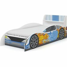 Racing Car Bed Frame Children's / Boys 3ft Single, Kids Blue