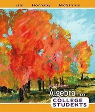 Algebra for College Students by A. G. Hornsby, Terry McGinnis and Margaret L....