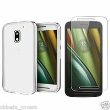 COMBO of 1 Transparent Soft Back Cover + 1 Tempered Glass For MOTO E3 POWER