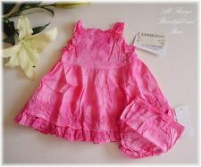 NWT GUESS Jeans 2pc Embroidered Rose Dress sz0-3-6m