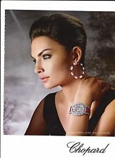 CHOPARD watches Publicité de Magazine ( page de mag)Magazine advertisement.