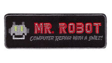 Iron on TAB Black Mr Robot series TV Costume  Morale Tactical FBI Patch