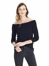 Banana Republic black off-shoulder sweater, XS, NWT
