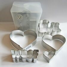 Dog Bone Woof Heart Six Piece Cookie Cutter Set - FREE SHIPPING