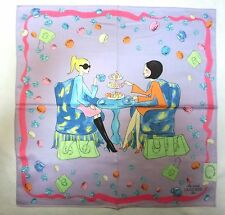 "Laduree Paris two girls handkerchief cotton 100% 50x50cm(19.69"")Japan made"