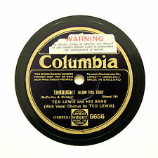"""TED LEWIS & HIS BAND """"Through! / Lonely Troubadour"""" (EE+) COLUMBIA 5656 [78 RPM]"""