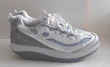 Skechers Shape-ups Silver Blue Toning Walking Shoes Sneakers Women's Size 11 41