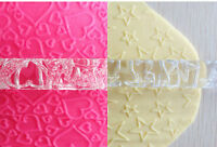 Embossed Textured Rollng Pin Various Designs for Cake Icing Decorating
