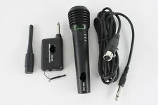 2in1 Pro Wireless & Wired Microphone Professional Cordless Singing Karaoke Mic