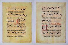 Große Pergament - Handschrift 16./17.Jh. aus Antiphonarium Antiphonar 69 x 50 cm