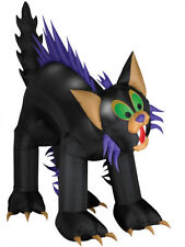 HALLOWEEN  10 FT  ANIMATED BLACK CAT TURNING HEAD GEMMY  INFLATABLE AIRBLOWN