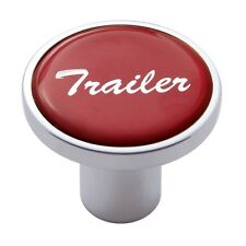 knob trailer screw on red glossy sticker for Kenworth Peterbilt Freightliner