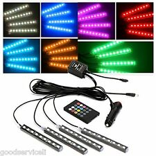 12led Multi-color 7 Color Choose/Change Car Interior Neon Light Atmosphere Lamp