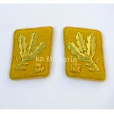 WW2 German Army SA-Obergruppenführer Collar Tabs, Kragenspiegel Yellow Gold