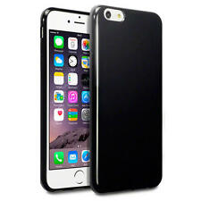 Terrapin Solido Nero in Gomma Gel Custodia Cover per Apple iPhone 6 PLUS 6s Plus
