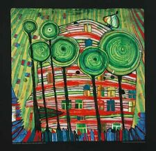 Hundertwasser Blobs grow in beloved gardens Poster Kunstdruck Bild 48x48cm