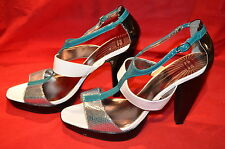 M&S Limited Collection Green & White High Heel Sandals size UK 8/EU 42 NEW