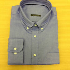 M&S New PURE COTTON OXFORD Mens Shirt Check Long Sleeve Casual Work Back Pleat