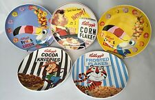 5 Kelloggs Cereal Plates Cocoa Krispies Frosted Flakes Froot Loops Corn Flakes