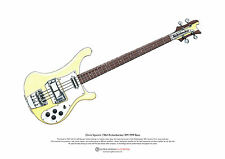 Chris Squire's Rickenbacker rm1999 Bass Arte Cartel Tamaño A3