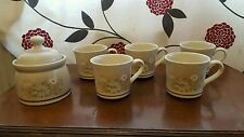 Royal Doulton - Florinda - Tea Cups X 5 And Lidded Sugar Bowl    (bsb5)