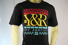 YOUNG & RECKLESS BLACK MEN'S GRAPHIC T-SHIRT W/ RASTA COLOR LOGO size X-Large/XL