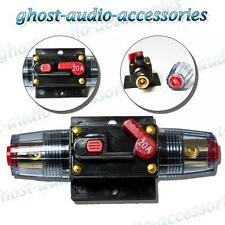 20a Amp Car Audio Circuit Breaker AGU Style Fuse Holder Gold Plated