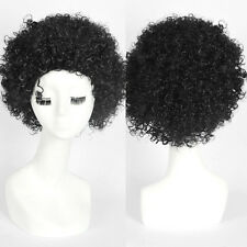 Black Women's Short Wig Classic Cap Afro Curly None Lace Synthetic Full Wigs