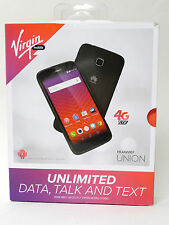 NEW Virgin Mobile - Huawei Union 4G LTE  Prepaid Cell Phone - Black No Contract