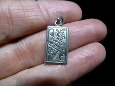 Authentic Vintage 1960's WELLS Sterling Silver Happy Birthday Charm