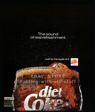 DIET COKE : Sound of Real Refreshment__Original 1991 Print  AD promo__Coca-cola