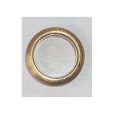 Oblò ottone con vetrino mm 10 (2 pezzi)