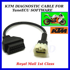 KTM MOTORBIKE 6 PIN TO 16 PIN ADAPTER CABLE FOR TUNE ECU INTERFACE