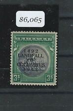 BAHAMAS (P2505B) KGVI 3/- COLUMBUS WITH STOP MNH. BPA CERT UNKINDLY SAYS SMALL T