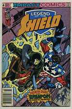 Legend of the Shield #4 1991 Newsstand Edition Mark Waid Grant Miehm DC Impact