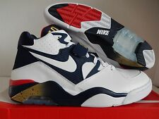 "NIKE AIR FORCE 180 WHITE-NAVY BLUE-GOLD ""OLYMPIC"" SZ 15 [310095-100]"