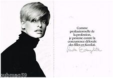 Publicité Advertising 1992 (2 pages) Vetements Kookai par Linda Evangelista