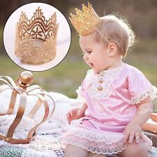 Fashion Baby Girl Lace Crown Headband Princess Crown Hair band Tiara Headwear