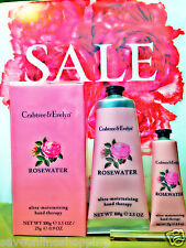 GIFT SET- Crabtree & Evelyn Rosewater Hand Therapy 100g + 25g- 29% OFF