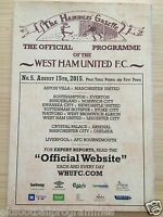 WEST HAM V LEICESTER CITY (15/08/2016) *PREMIERSHIP FOOTBALL PROGRAMME*