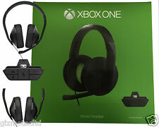 Official XBOX ONE Stereo Gaming Headset + Adapter Microsoft  - Black NEW UK