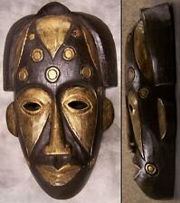 """Hand Carved Wood Tribal Face Wall Mask 8""""x13"""" NEW"""